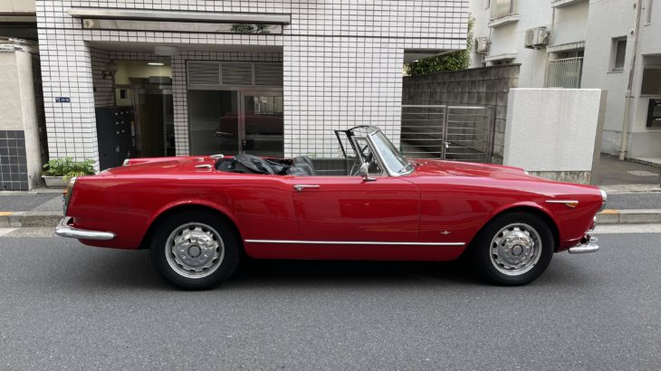 【愛車紹介】Alfa Romeo 2600 Touring Spider 64年製 フラッグシップらしいパワフルかつジェントルな4座オープンをご紹介します!その1