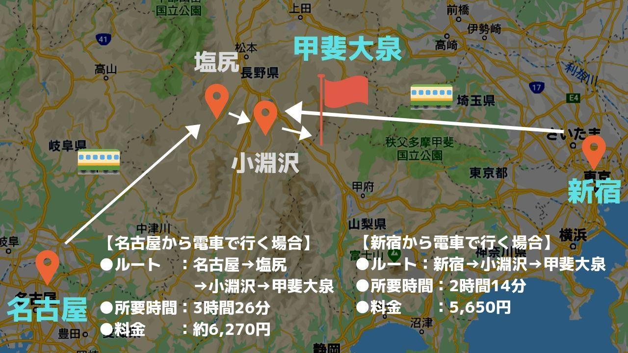 八ヶ岳へのアクセス