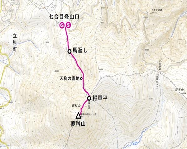 蓼科山登山コース