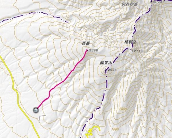 西岳 登山コース