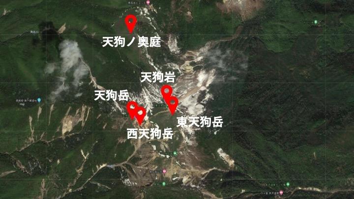 天狗岳地図